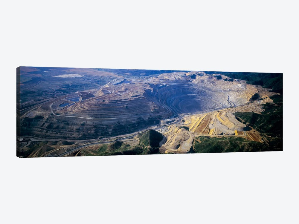 Aerial View Of A Copper Mine, Utah, USA by Panoramic Images 1-piece Canvas Wall Art