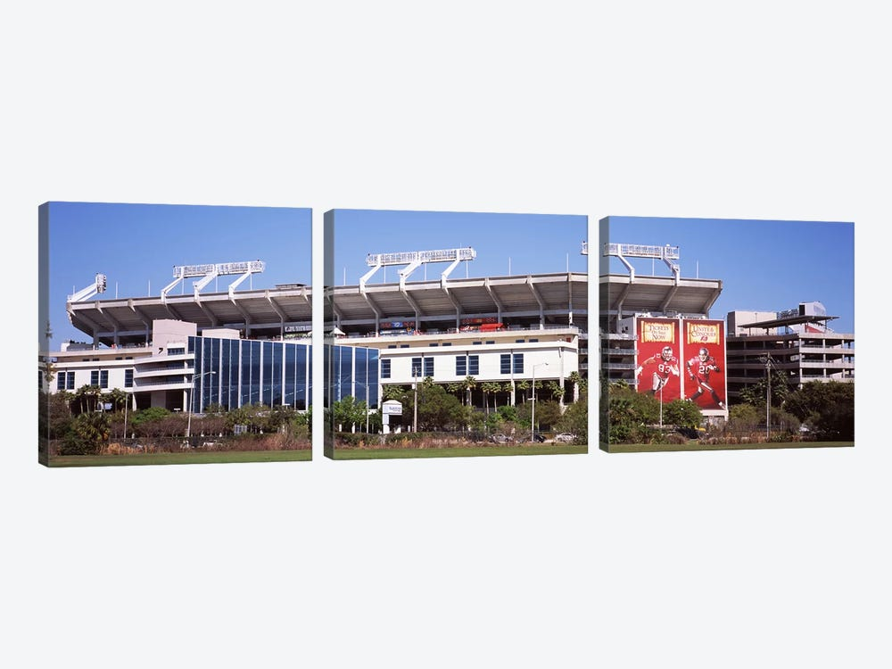 Raymond James Stadium home of Tampa Bay BuccaneersTampa, Florida, USA 3-piece Art Print