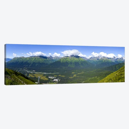 Aerial view of a ski resortAlyeska Resort, Girdwood, Chugach Mountains, Anchorage, Alaska, USA Canvas Print #PIM9382} by Panoramic Images Canvas Art Print