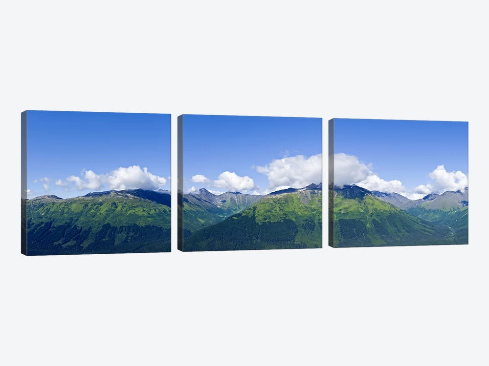 Mountain range, Chugach Mountains, Anchorage, Alaska, USA by Panoramic Images 3-piece Canvas Wall Art