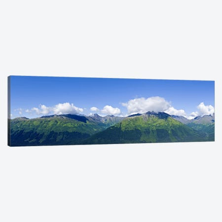 Mountain range, Chugach Mountains, Anchorage, Alaska, USA 3-Piece Canvas #PIM9383} by Panoramic Images Canvas Print