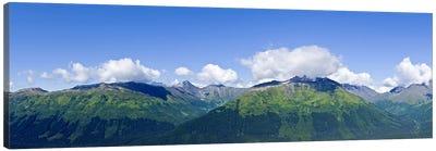 Mountain range, Chugach Mountains, Anchorage, Alaska, USA Canvas Art Print