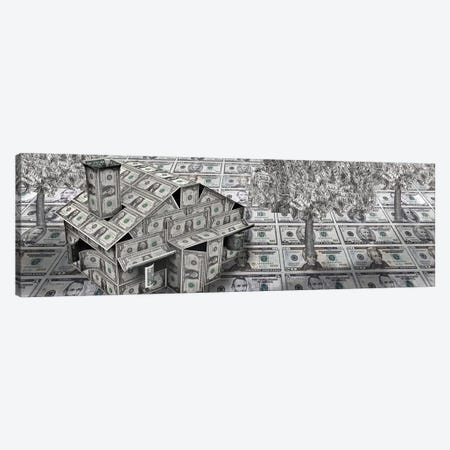 Dollar house with money tree Canvas Print #PIM9385} by Panoramic Images Canvas Art