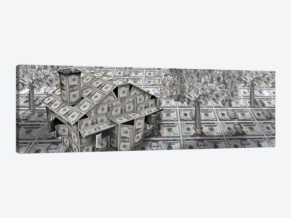 Dollar house with money tree by Panoramic Images 1-piece Canvas Artwork
