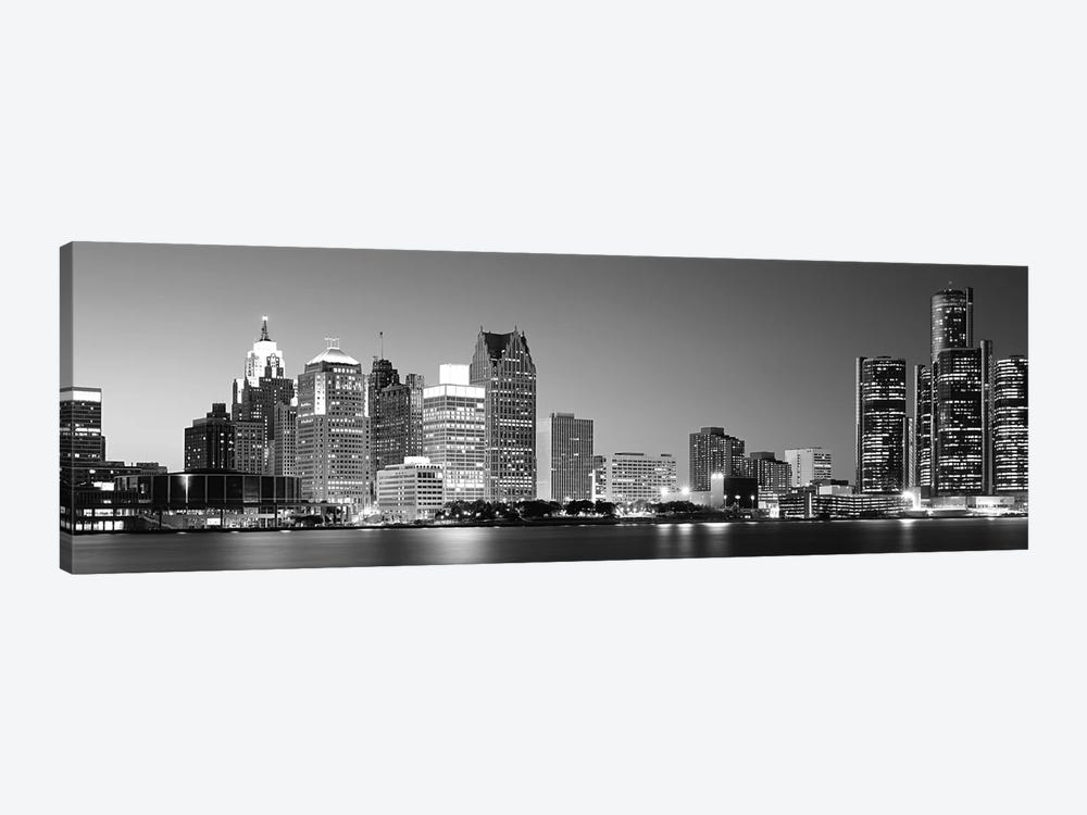 City at the waterfront, Lake Erie, Detroit, Wayne County, Michigan, USA by Panoramic Images 1-piece Art Print