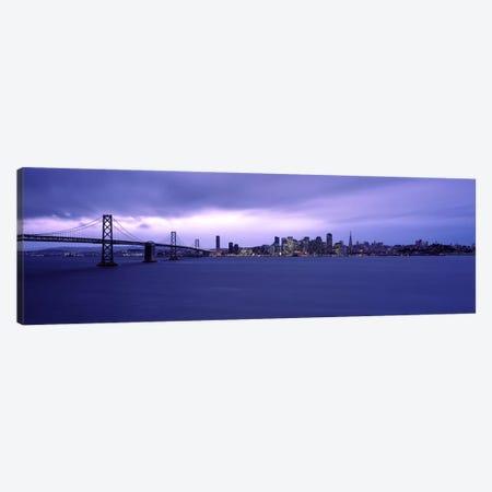 Suspension bridge across a bayBay Bridge, San Francisco Bay, San Francisco, California, USA Canvas Print #PIM9393} by Panoramic Images Canvas Art