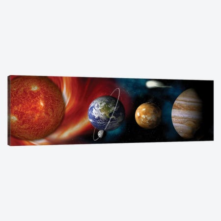 Sun and planets Canvas Print #PIM9398} by Panoramic Images Canvas Wall Art