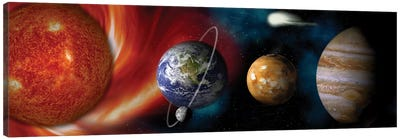 Sun and planets Canvas Art Print