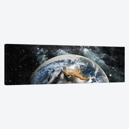 Earth in space Canvas Print #PIM9399} by Panoramic Images Canvas Artwork