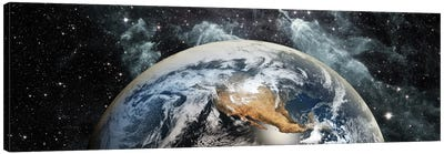 Earth in space Canvas Art Print