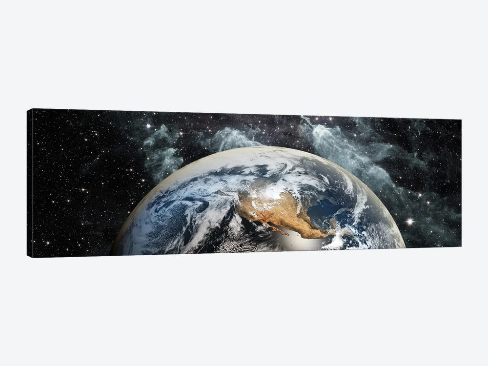 Earth in space by Panoramic Images 1-piece Canvas Art Print