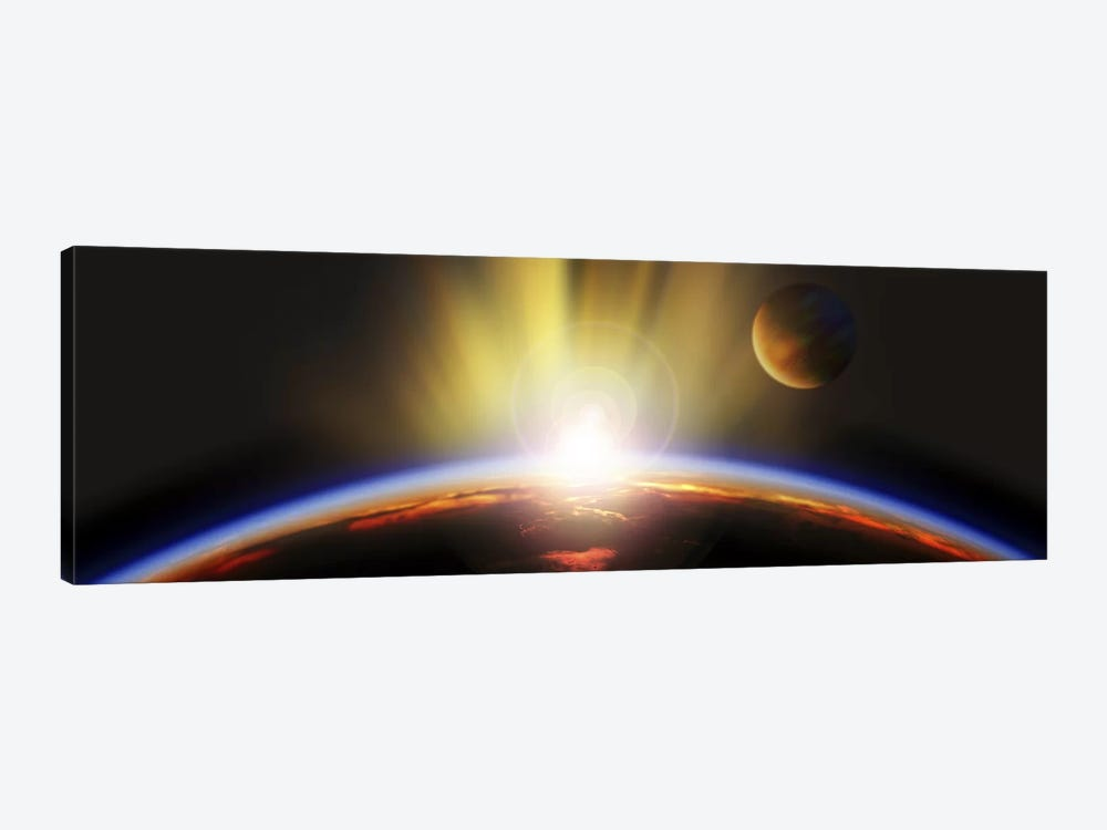 Sunrise over earth by Panoramic Images 1-piece Canvas Art