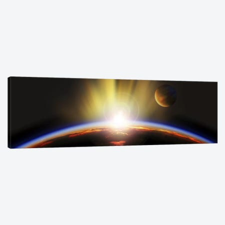 Sunrise over earth Canvas Print #PIM9400} by Panoramic Images Canvas Wall Art