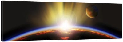 Sunrise over earth Canvas Art Print