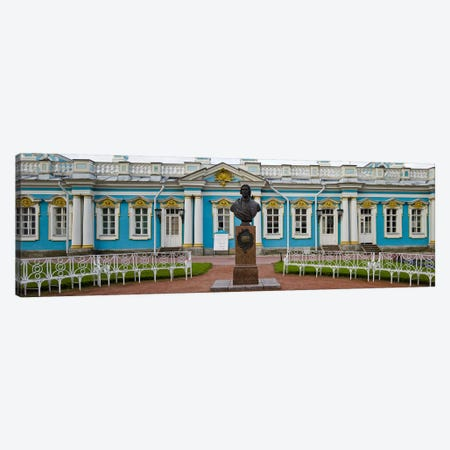 Facade of a palace, Tsarskoe Selo, Catherine Palace, St. Petersburg, Russia Canvas Print #PIM9422} by Panoramic Images Canvas Artwork