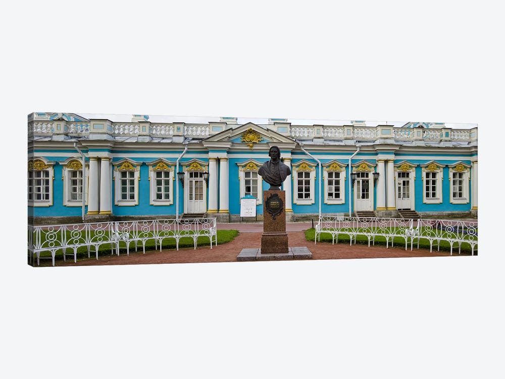 Facade of a palace, Tsarskoe Selo, Catherine Palace, St. Petersburg, Russia by Panoramic Images 1-piece Canvas Artwork