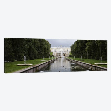 Canal at Grand Cascade at Peterhof Grand Palace, St. Petersburg, Russia Canvas Print #PIM9428} by Panoramic Images Canvas Wall Art