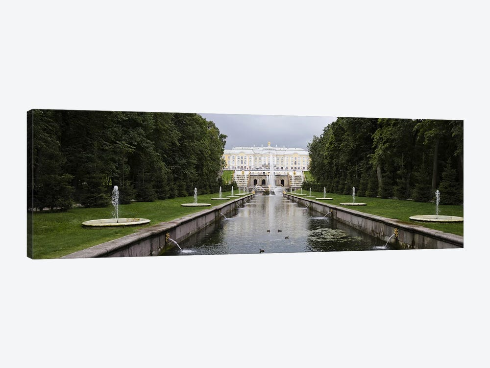 Canal at Grand Cascade at Peterhof Grand Palace, St. Petersburg, Russia by Panoramic Images 1-piece Canvas Art