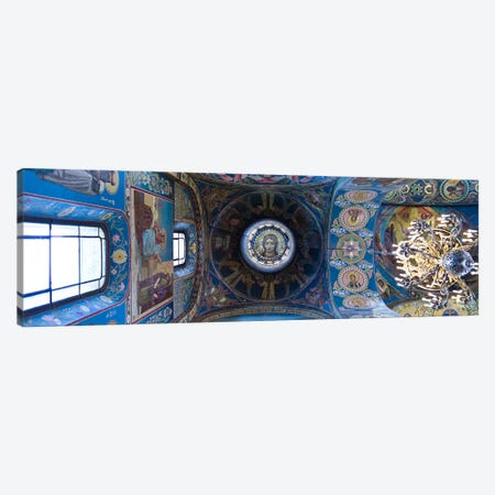 Interiors of a church, Church of The Savior On Spilled Blood, St. Petersburg, Russia Canvas Print #PIM9429} by Panoramic Images Canvas Art