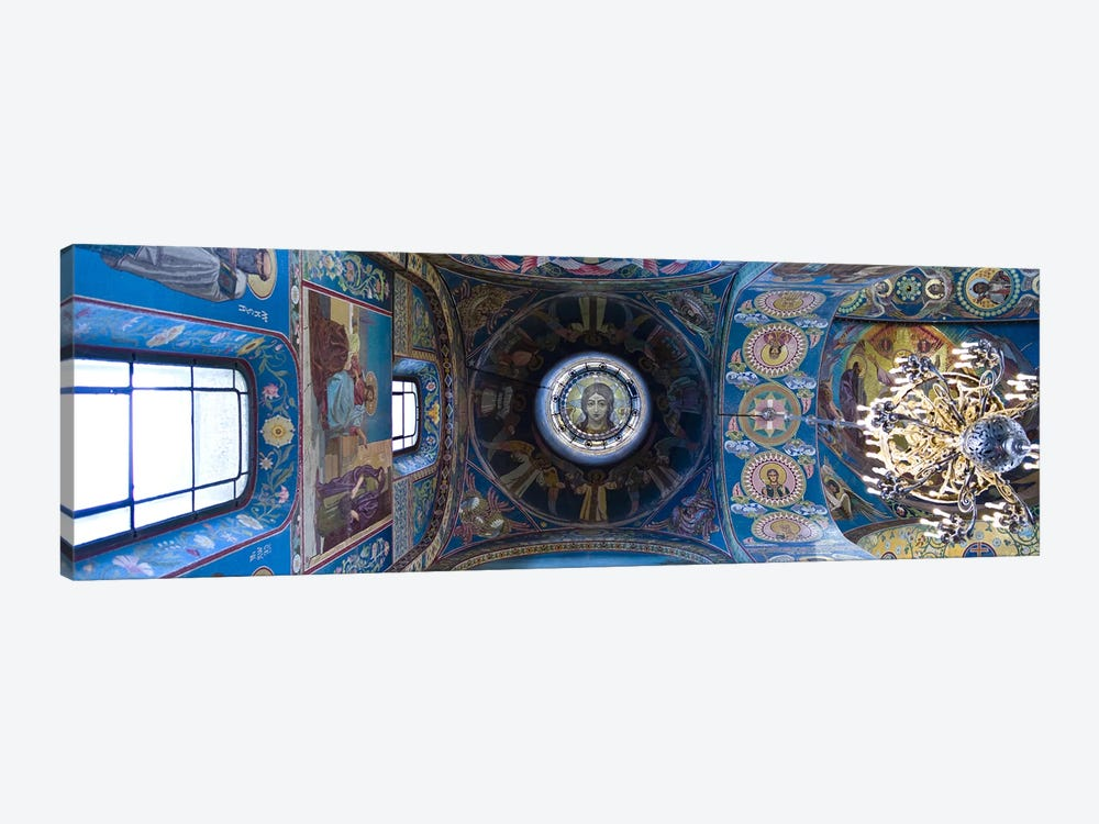 Interiors of a church, Church of The Savior On Spilled Blood, St. Petersburg, Russia by Panoramic Images 1-piece Canvas Art Print