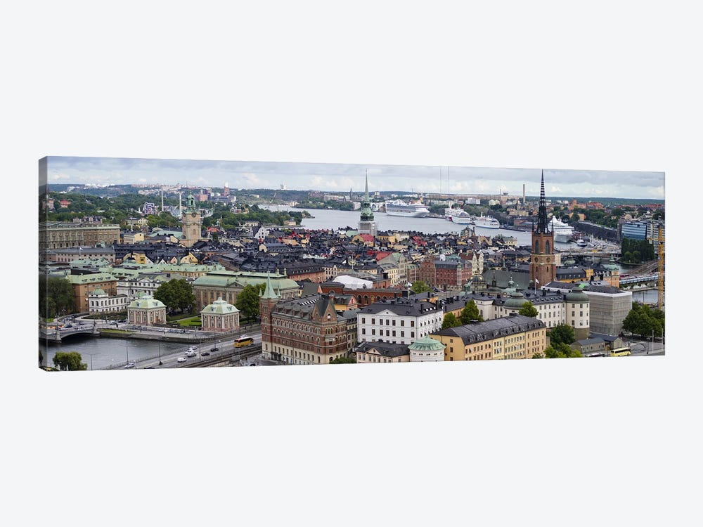 High-Angle View Of Gamla Stan (Old Town), Stockholm, Sweden by Panoramic Images 1-piece Canvas Art Print