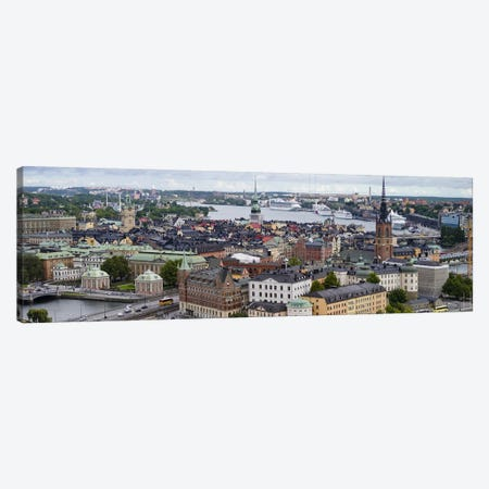 High-Angle View Of Gamla Stan (Old Town), Stockholm, Sweden 3-Piece Canvas #PIM9432} by Panoramic Images Canvas Print