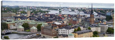 High-Angle View Of Gamla Stan (Old Town), Stockholm, Sweden Canvas Art Print