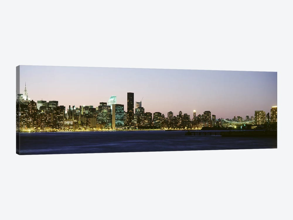 Skyscrapers at the waterfront, New York City, New York State, USA #3 by Panoramic Images 1-piece Canvas Wall Art