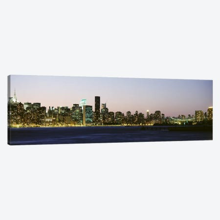 Skyscrapers at the waterfront, New York City, New York State, USA #3 Canvas Print #PIM9435} by Panoramic Images Canvas Art