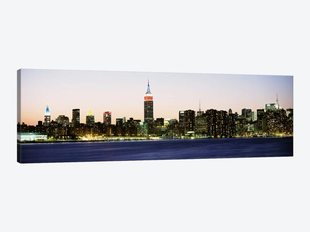 Skyscrapers at the waterfront, New York City, New York State, USA #4 by Panoramic Images 1-piece Canvas Print