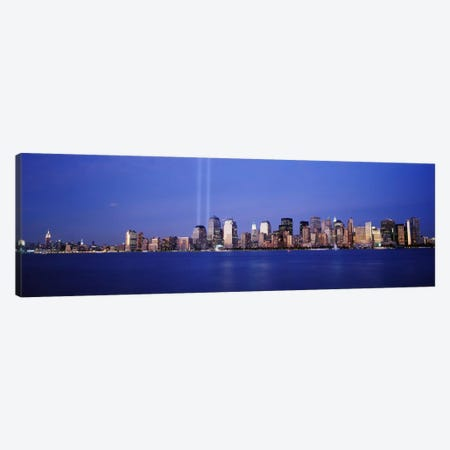 Tribute in Light, World Trade Center, Lower Manhattan, Manhattan, New York City, New York State, USA Canvas Print #PIM9437} by Panoramic Images Canvas Artwork