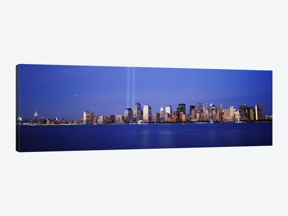 Tribute in Light, World Trade Center, Lower Manhattan, Manhattan, New York City, New York State, USA by Panoramic Images 1-piece Canvas Artwork