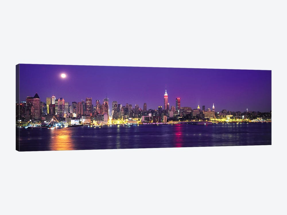 Skyscrapers at the waterfront, New York City, New York State, USA by Panoramic Images 1-piece Canvas Wall Art