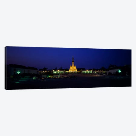 Church lit up at nightOur Lady of Fatima, Fatima, Portugal Canvas Print #PIM943} by Panoramic Images Canvas Print