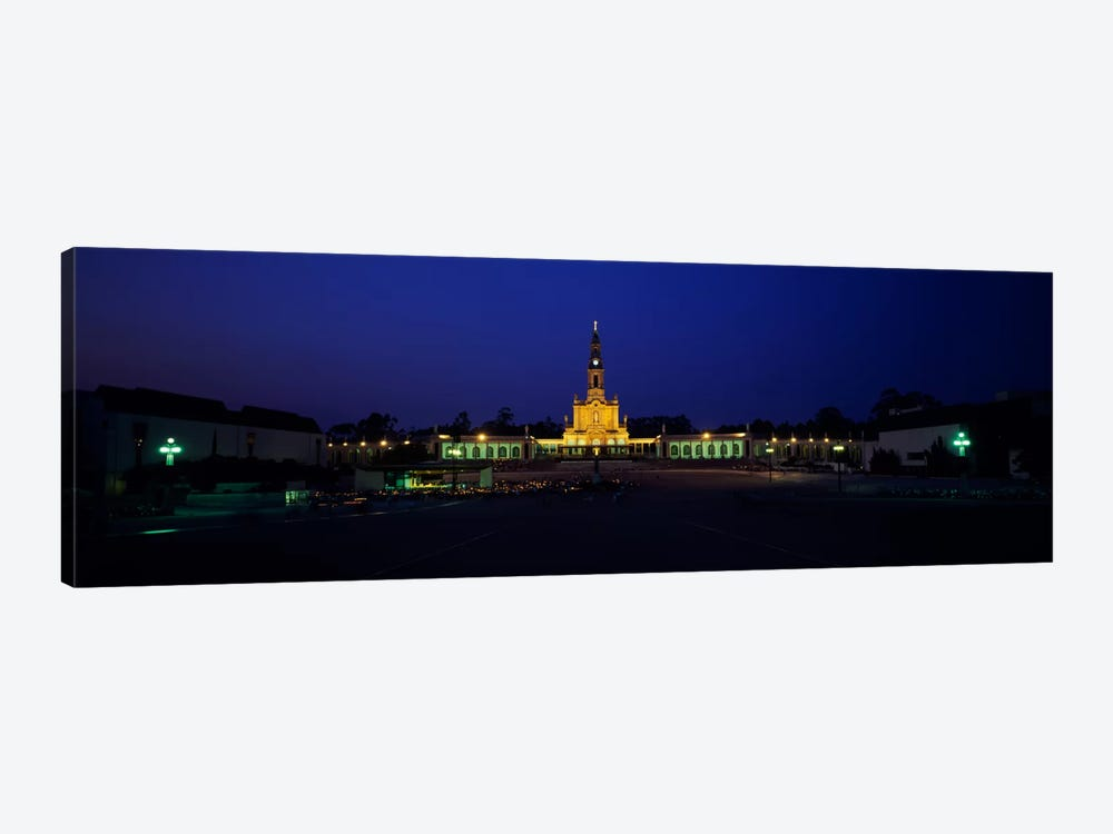 Church lit up at nightOur Lady of Fatima, Fatima, Portugal by Panoramic Images 1-piece Canvas Print