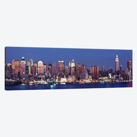 Dusk, West Side, NYC, New York City, USA Canvas Print #PIM9440} by Panoramic Images Canvas Art