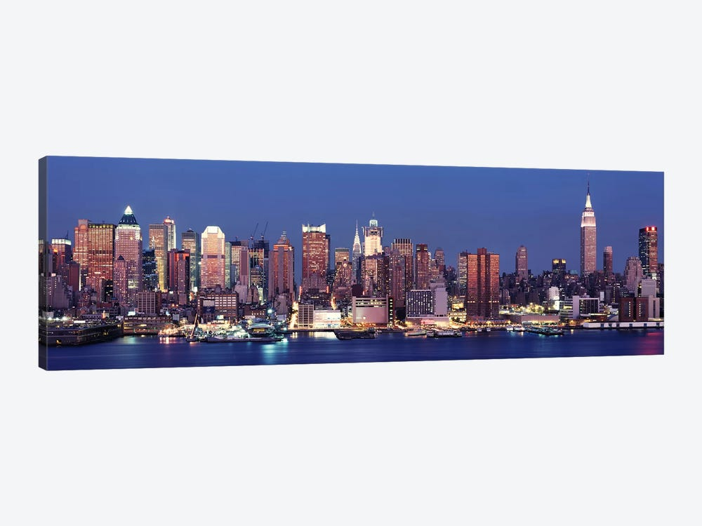 Dusk, West Side, NYC, New York City, USA by Panoramic Images 1-piece Canvas Art