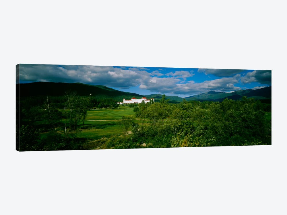Hotel in the forestMount Washington Hotel, Bretton Woods, New Hampshire, USA by Panoramic Images 1-piece Canvas Artwork