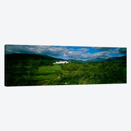 Hotel in the forestMount Washington Hotel, Bretton Woods, New Hampshire, USA 3-Piece Canvas #PIM944} by Panoramic Images Canvas Art