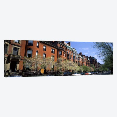 Buildings in a streetCommonwealth Avenue, Boston, Suffolk County, Massachusetts, USA Canvas Print #PIM945} by Panoramic Images Canvas Artwork