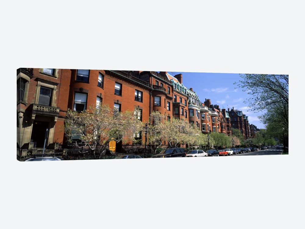 Buildings in a streetCommonwealth Avenue, Boston, Suffolk County, Massachusetts, USA by Panoramic Images 1-piece Art Print
