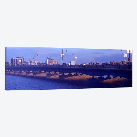 Bridge across a river, Longfellow Bridge, Charles River, Boston, Suffolk County, Massachusetts, USA Canvas Print #PIM9468} by Panoramic Images Canvas Art