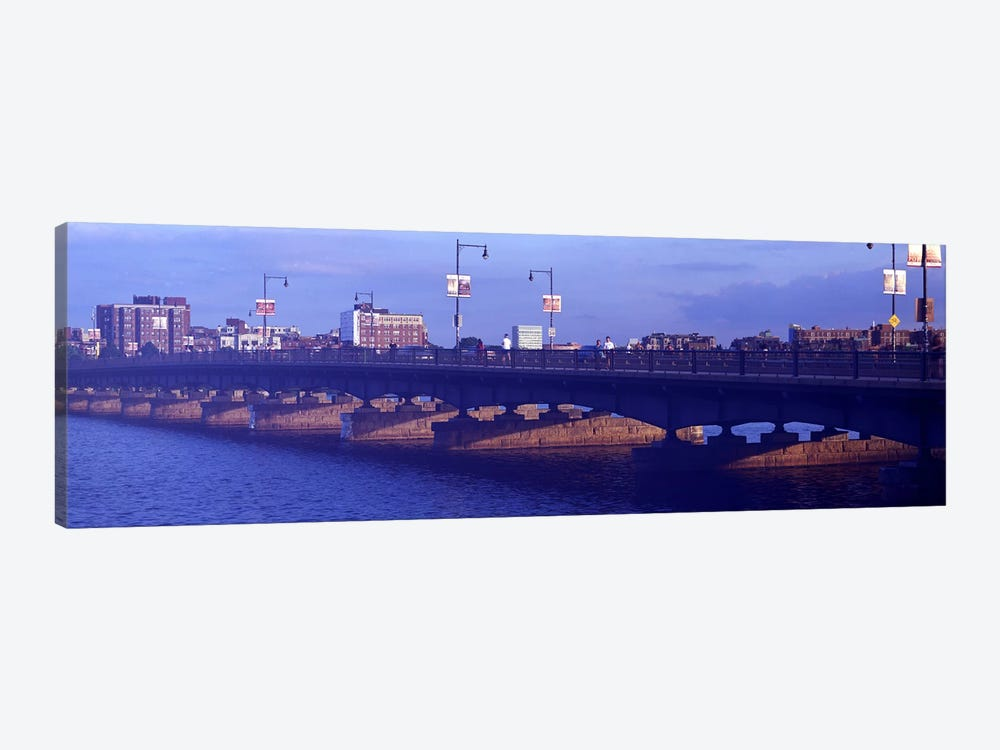 Bridge across a river, Longfellow Bridge, Charles River, Boston, Suffolk County, Massachusetts, USA by Panoramic Images 1-piece Canvas Artwork
