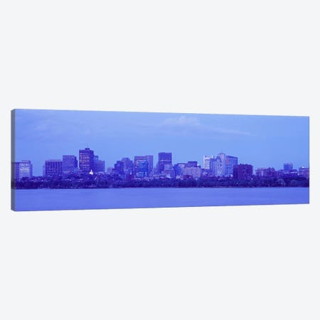 Skyscrapers at the waterfront, Charles River, Boston, Suffolk County, Massachusetts, USA Canvas Print #PIM9469} by Panoramic Images Canvas Art