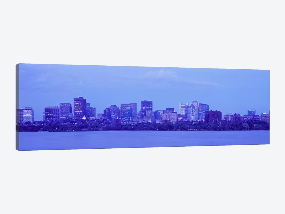 Skyscrapers at the waterfront, Charles River, Boston, Suffolk County, Massachusetts, USA by Panoramic Images 1-piece Canvas Art Print