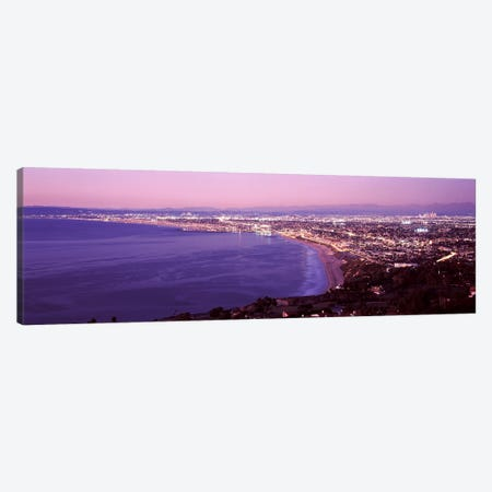 View of Los Angeles downtown, California, USA Canvas Print #PIM9489} by Panoramic Images Canvas Artwork