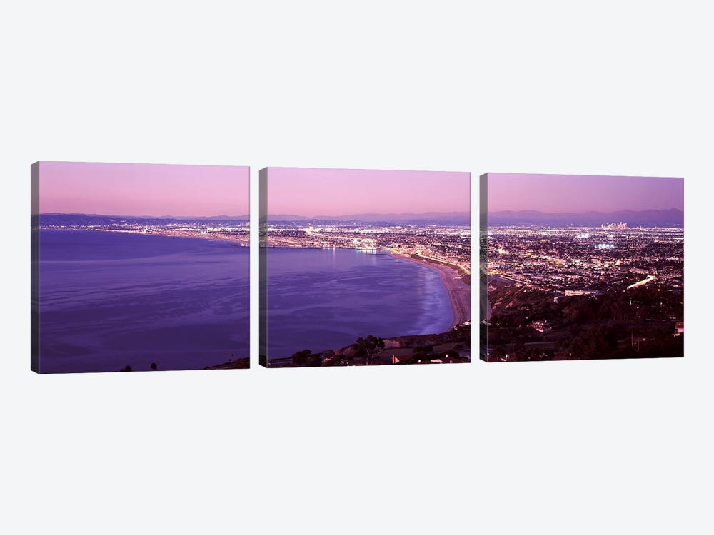 View of Los Angeles downtown, California, USA by Panoramic Images 3-piece Art Print