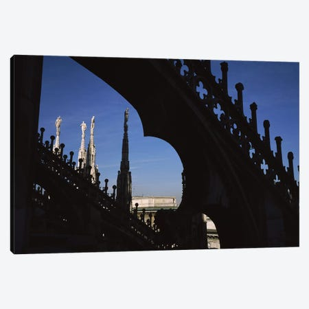 Low angle view of a cathedral, Duomo Di Milano, Milan, Lombardy, Italy Canvas Print #PIM9493} by Panoramic Images Canvas Art Print