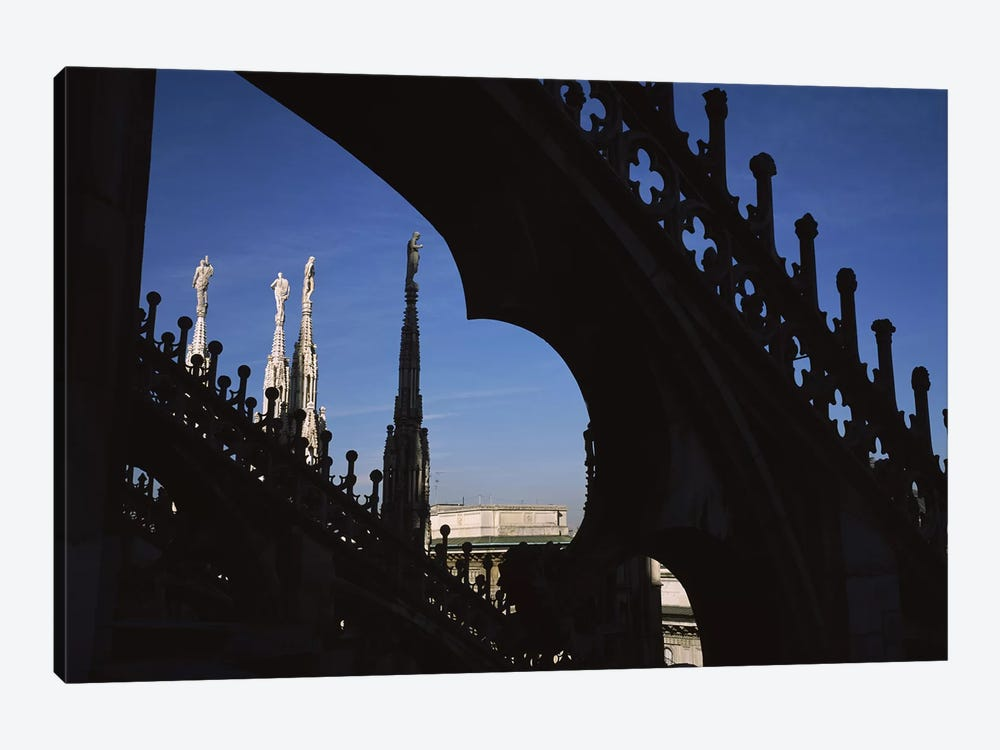 Low angle view of a cathedral, Duomo Di Milano, Milan, Lombardy, Italy by Panoramic Images 1-piece Canvas Art