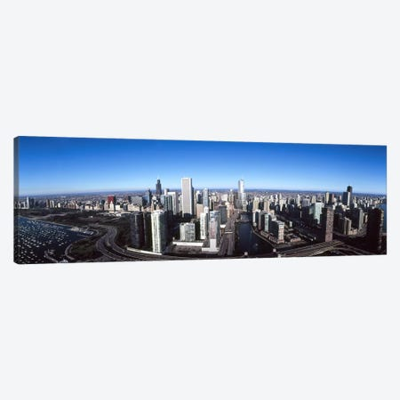 Skyscrapers in a city, Trump Tower, Chicago River, Chicago, Cook County, Illinois, USA 2011 Canvas Print #PIM9502} by Panoramic Images Canvas Print